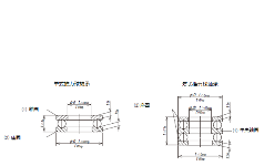 推力轴承(0级)的容差及容许值(摘自JIS B 1514-2:2017)
